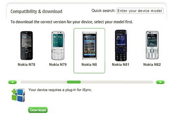 iSync for Mac updated with Nokia N8 support