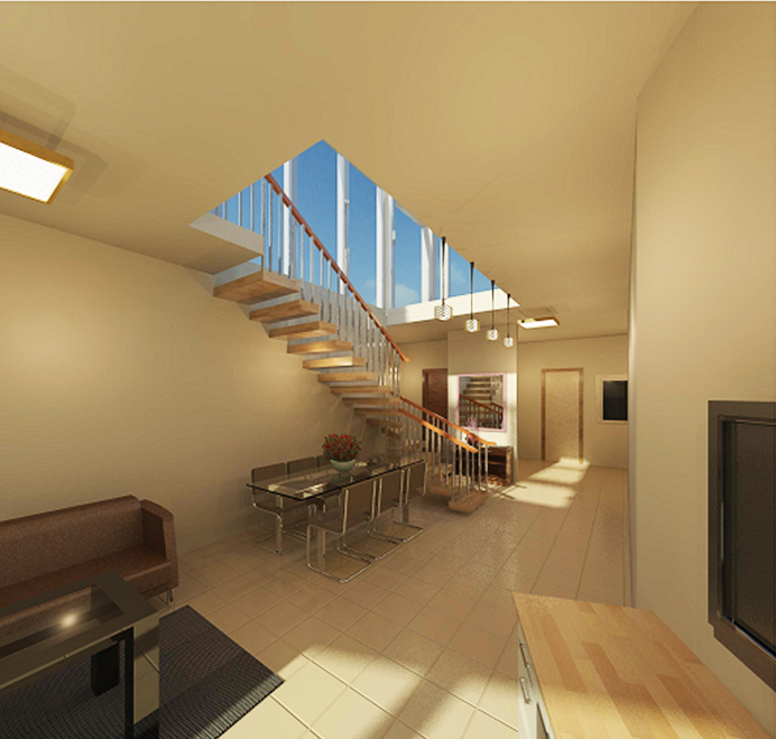 Interior Apartment Built And Rendered In Revit Architecture