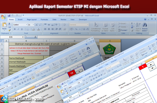 Aplikasi Raport Semester KTSP MI dengan Microsoft Excel