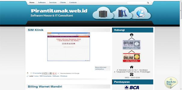 polisi online, piranti lunak