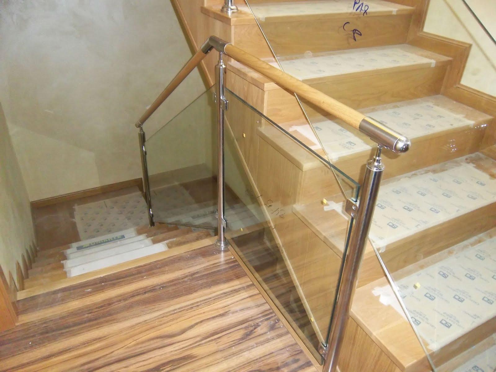 Norbel carpinteria met lica y acero inoxidable barandilla de inox cristal y pasamanos de madera - Pasamanos de cristal ...