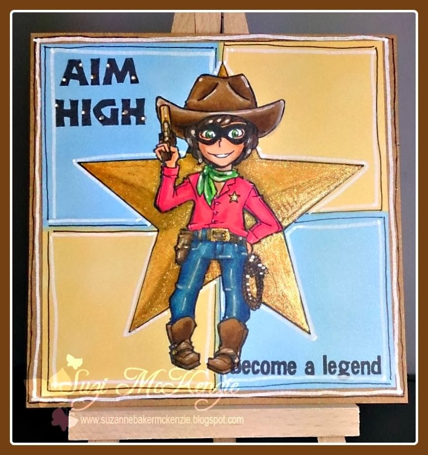cowboy lone ranger character stamp aim high become a legend