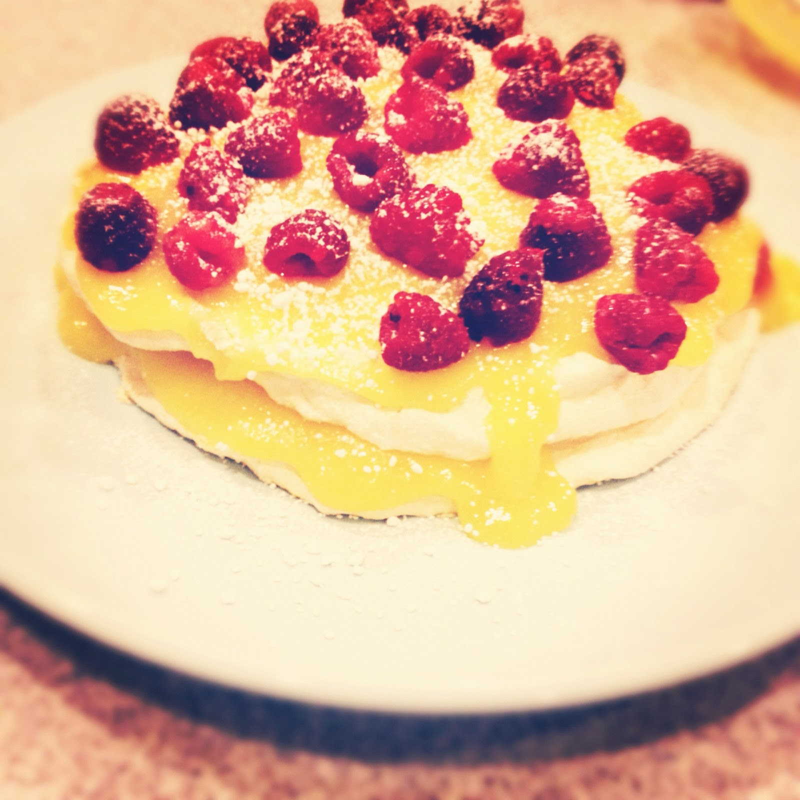 ... Delicious Gluten-free & Dairy-free Raspberry-Lemon Meringue Layer Cake