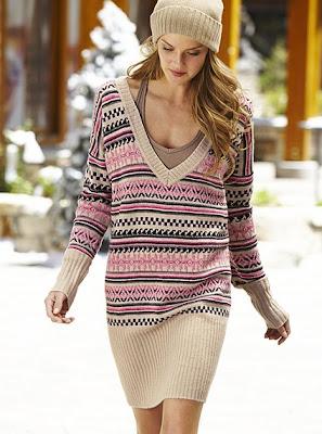 Kışlık Triko Elbise Modelleri