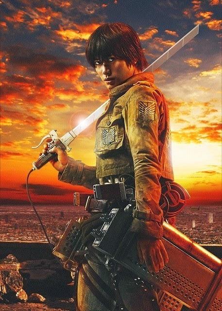 """live action de """"Shingeki no Kyojin"""" (進撃の巨人)."""