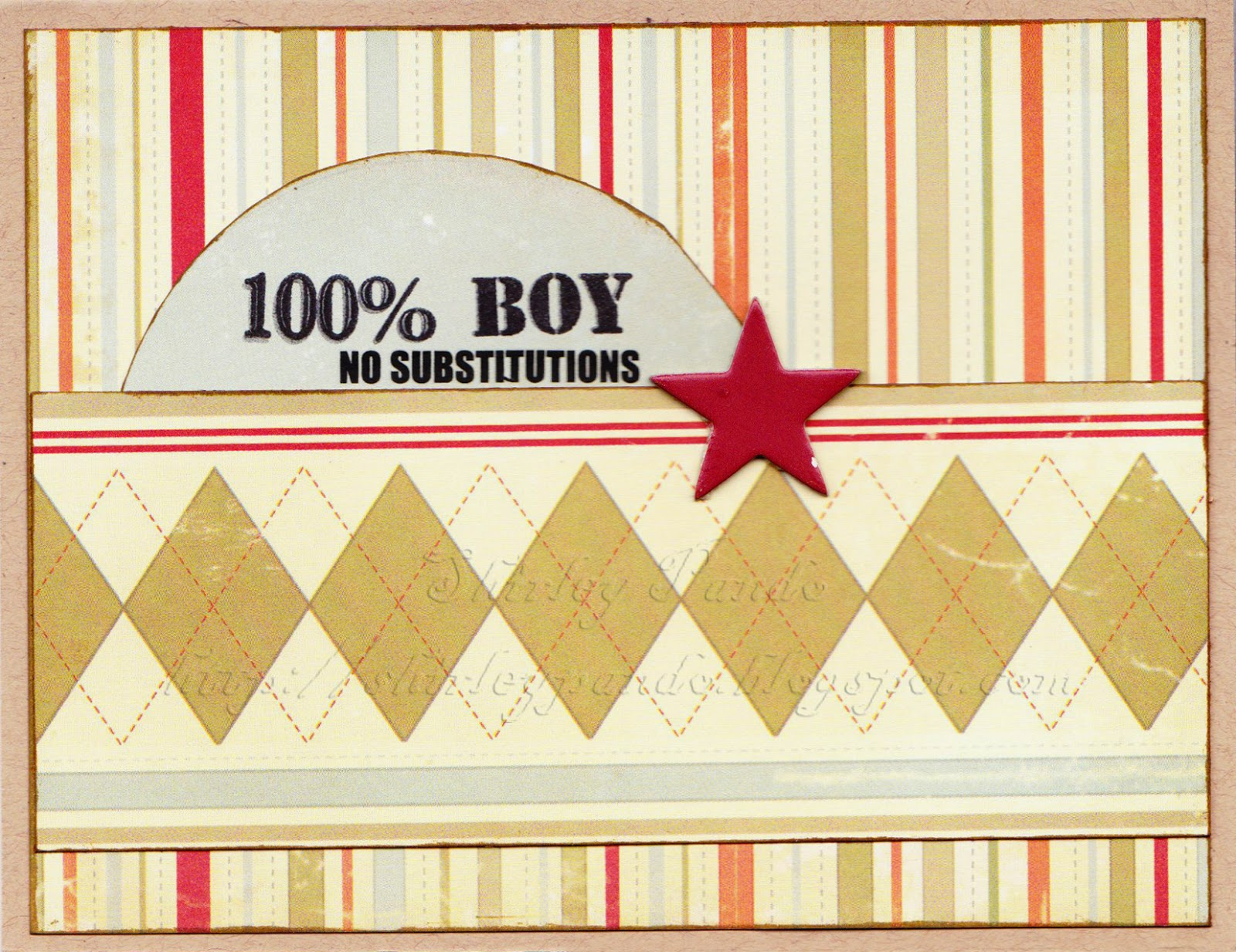 100% Boy birthday card