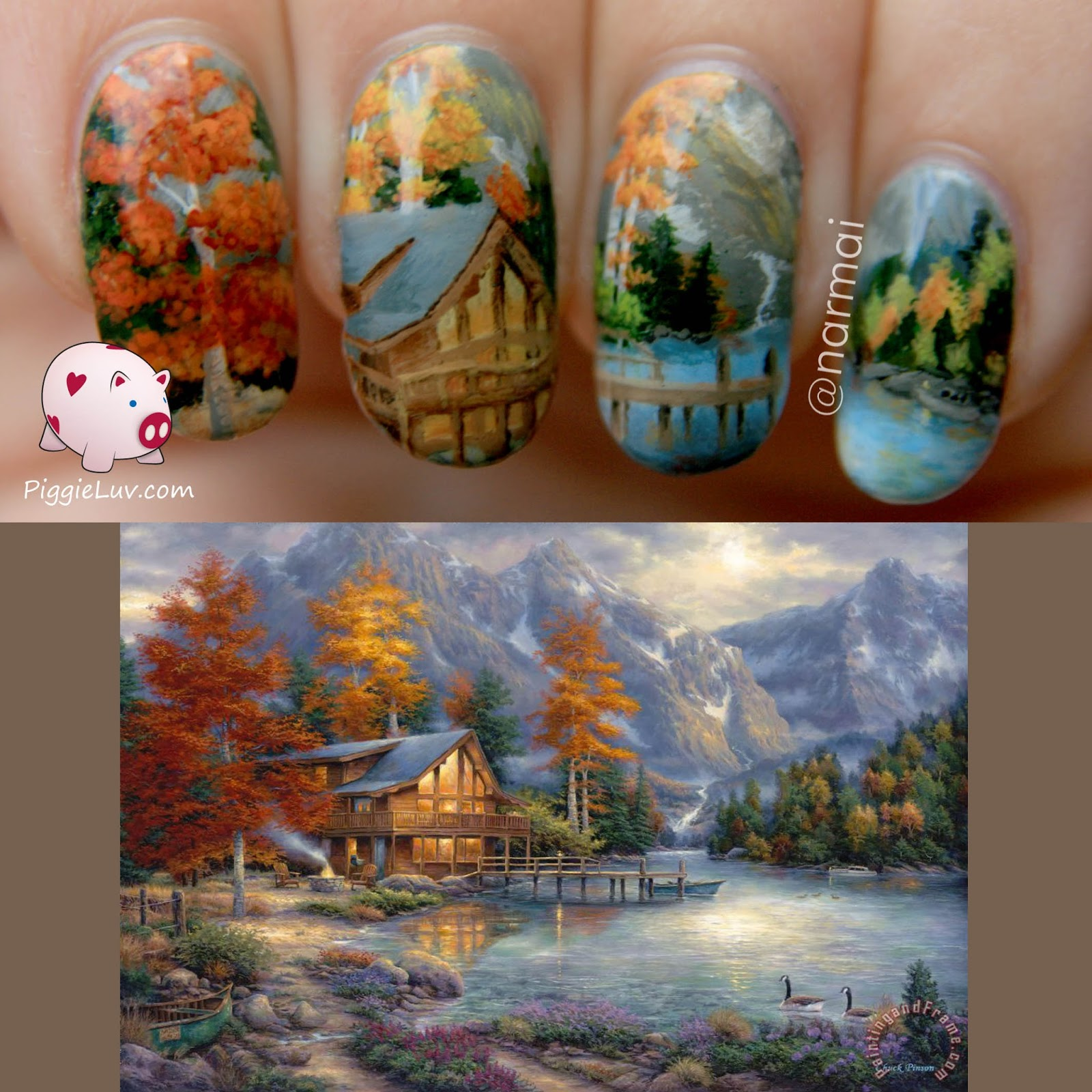 Nail art inspired by Chuck Pinson