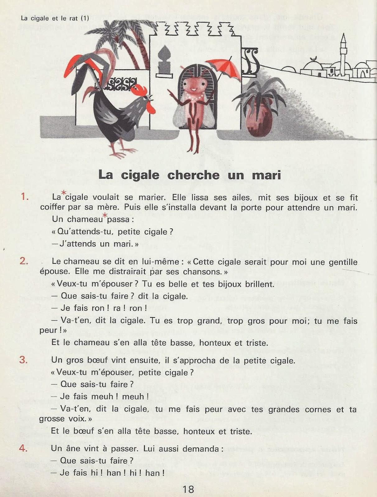 La Cigale Et Le Rat Conte Tunisien Litterature Au Primaire