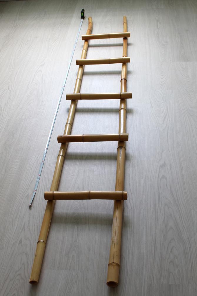 Diy escalera de bamb trasteando diy - Escalera de bambu ...
