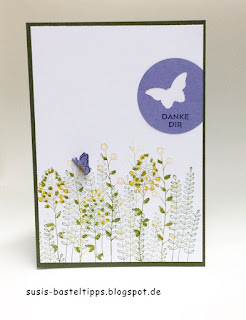"stampin up sale a bration 2016 Karte ""Flowering Fields"""