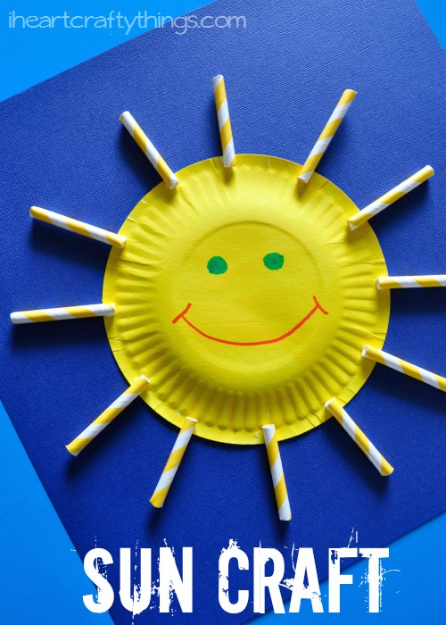 I HEART CRAFTY THINGS Paper Plate Sun Craft For Kids