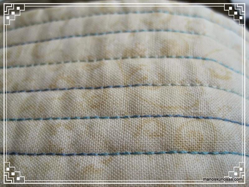 cesto realizado de patchwork