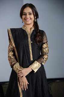 Actress Sree Divya Pictures in Black Salwar Kameez at Nagarapuram Audio Function 0001.jpg