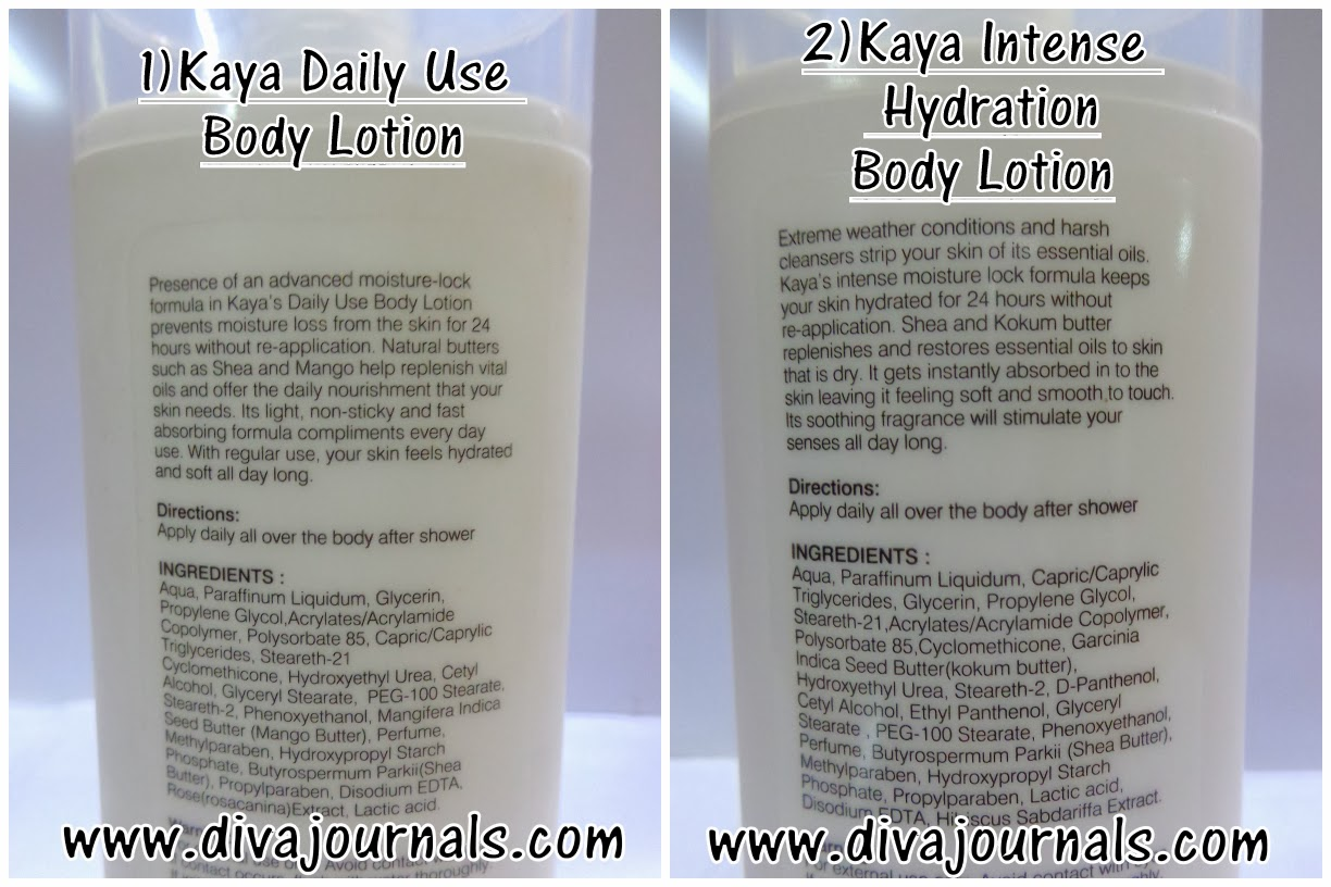 Kaya Daily Use and Intense Hydration Body Lotions Review