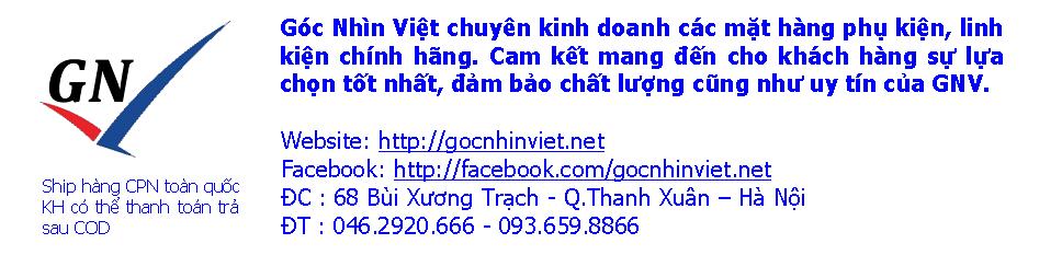 Shop Phụ Kiện Điện Thoại Chính Hãng - GocNhinViet.net