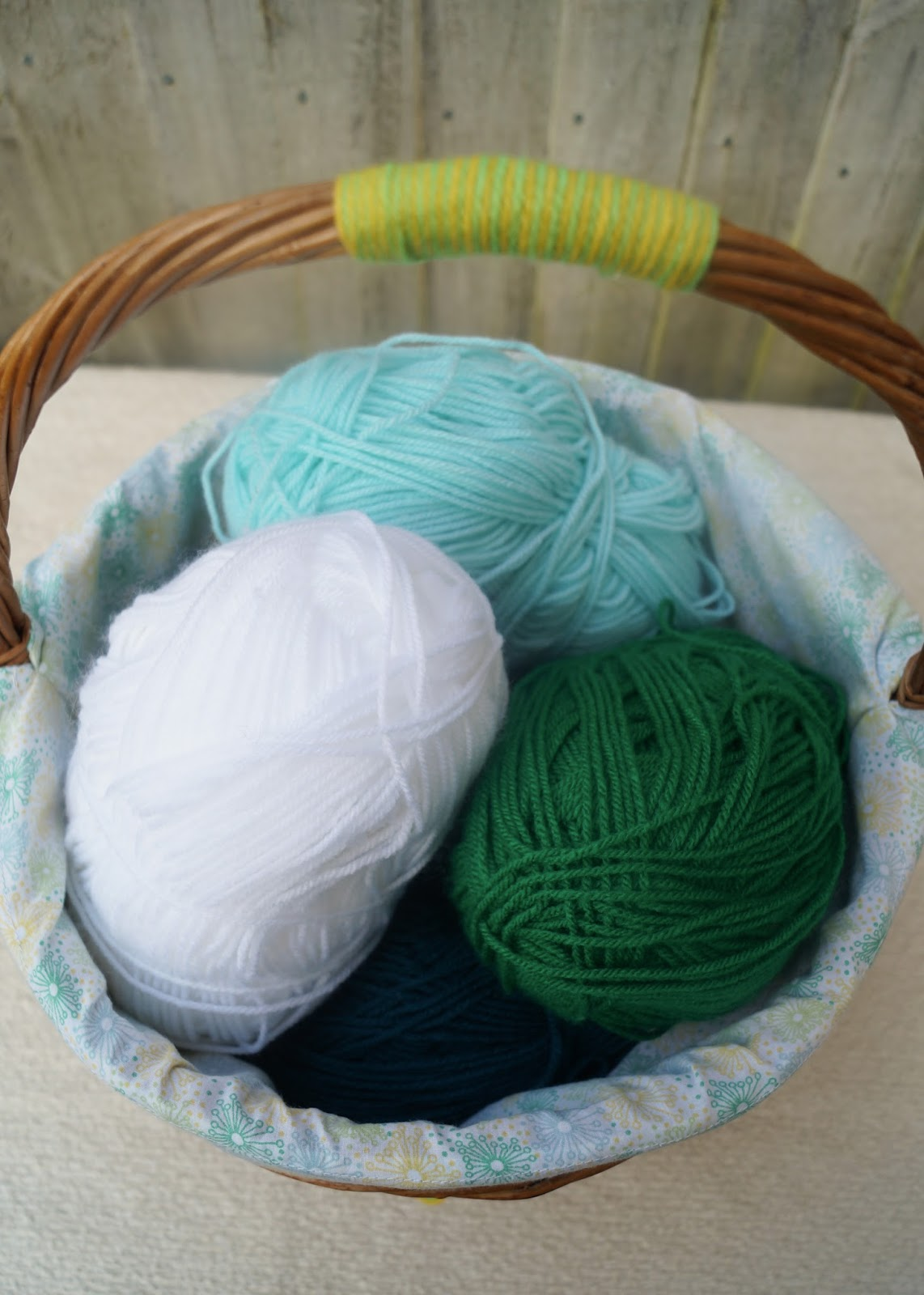 Knitting Basket With Handles : Buttons and paint a knitting basket makeover