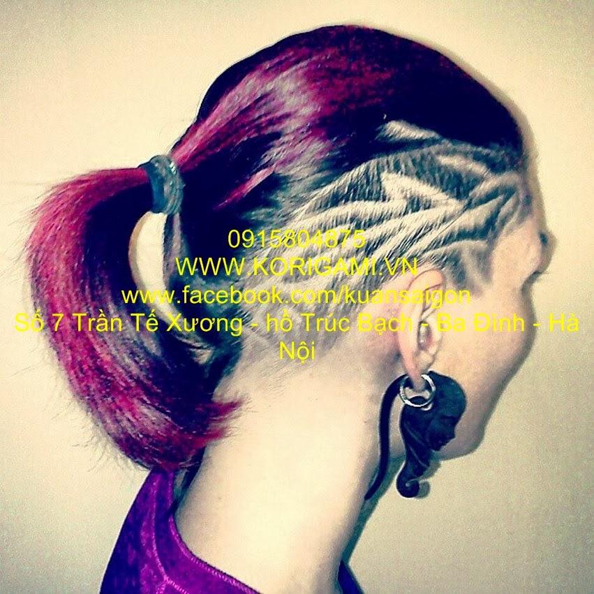 ĐIÊU KHẮC HÌNH XĂM TRÊN TÓC, ĐIÊU KHẮC HOA VĂN TRÊN TÓC NỮ, HAIR TATTOO, DẠY ĐIÊU KHẮC TÓC, NGHỆ THUẬT KHẮC HÌNH TÓC