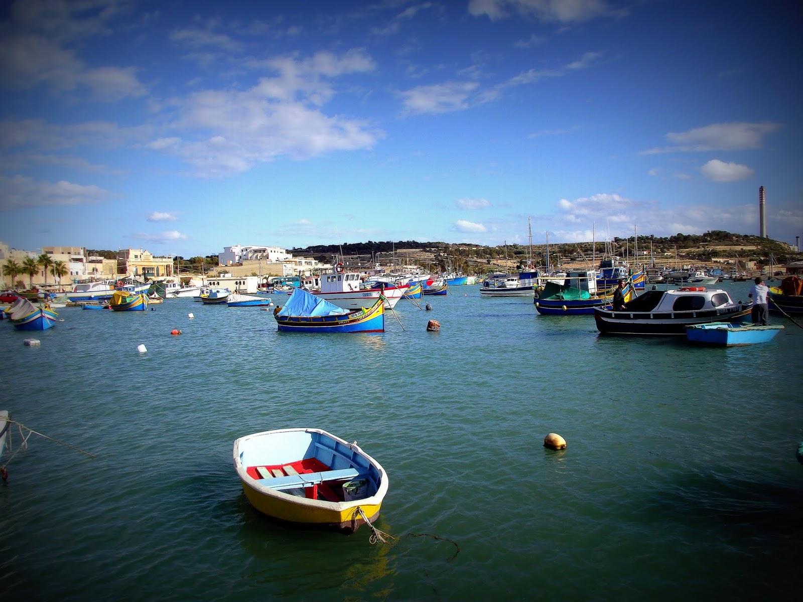 pueblo pesquero Marsaxlokk Malta