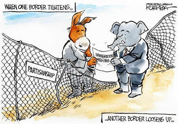 Barbed Wire Border : The Cartoons