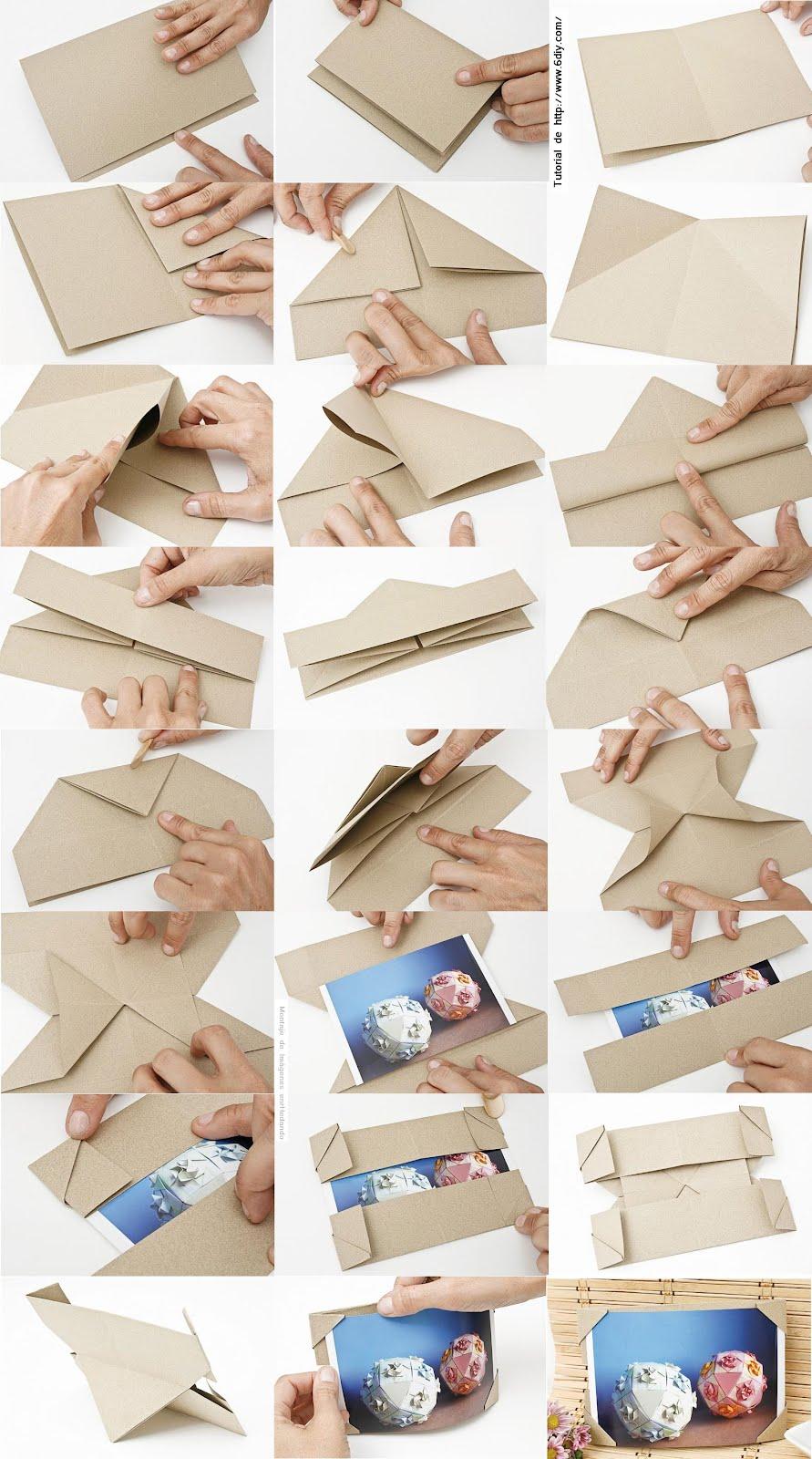 Enrhedando manualidades - Como hacer un marco de fotos a mano ...