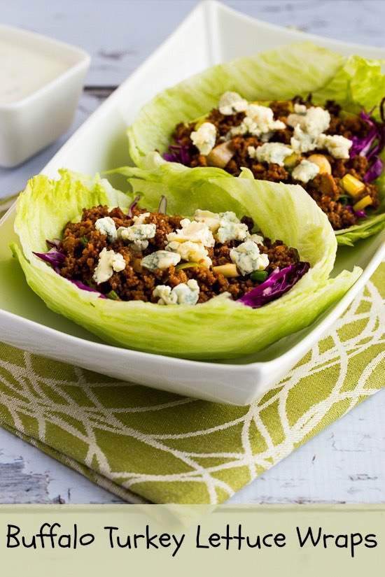 Buffalo Turkey Lettuce Wraps found on KalynsKitchen.com.