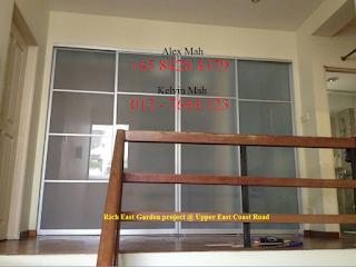 Common Space 4 door aluminium sliding door cabinet After Complete
