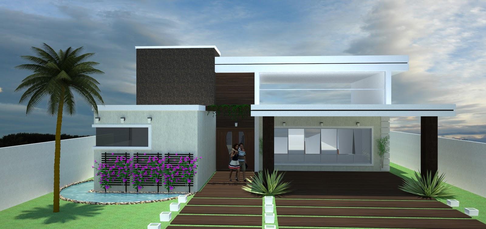 Construindo minha casa clean fachadas com ou sem telhado for Ver frentes de casas modernas