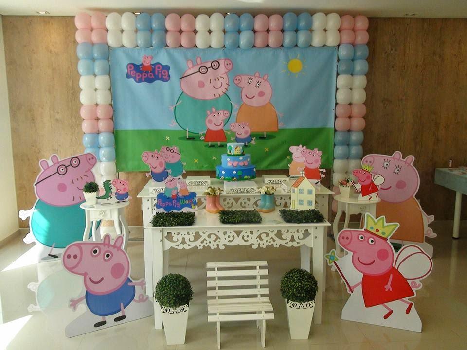 Loja santo antonio mesa de festa e decora o da peppa pig for Mesa de peppa pig
