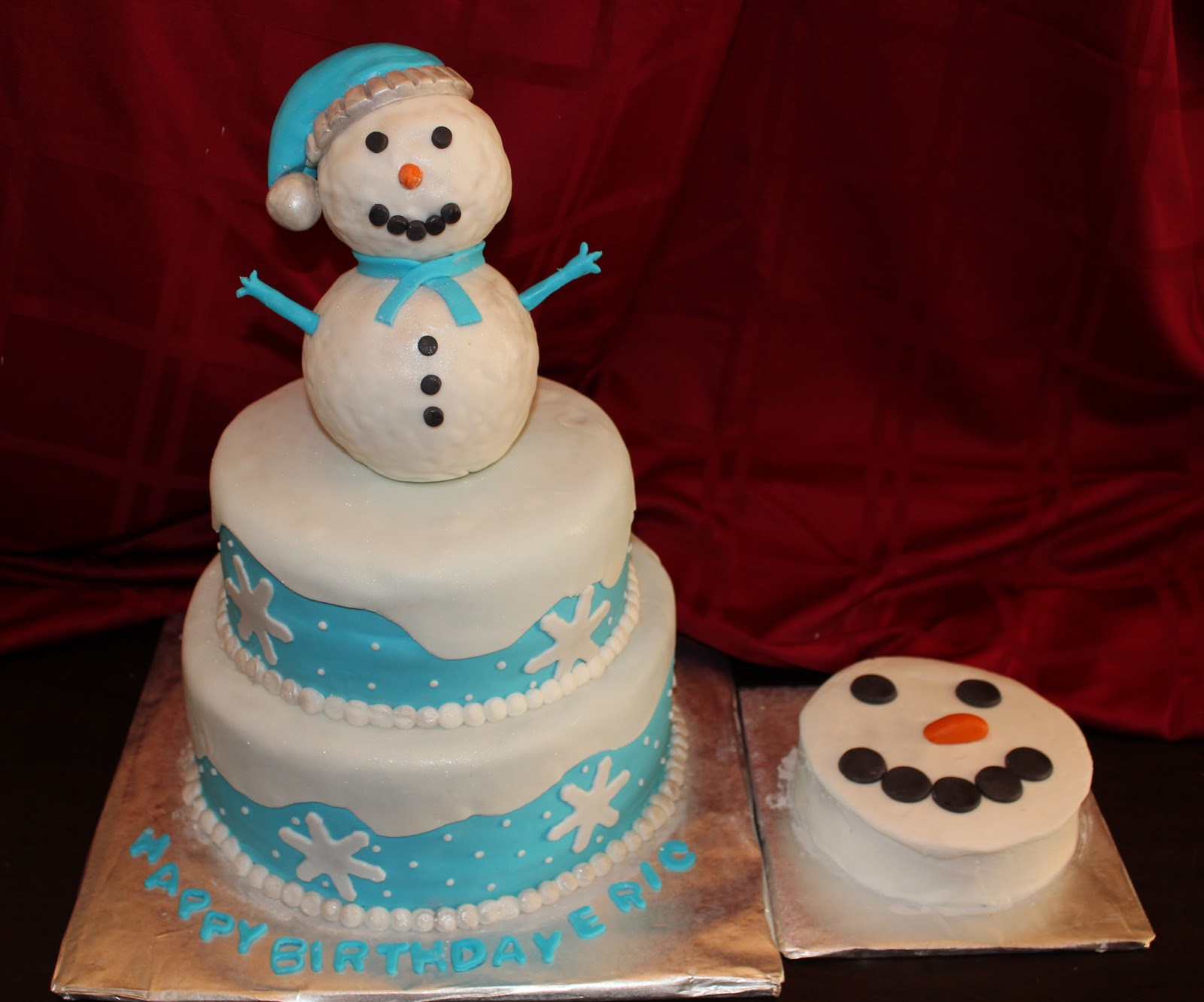 Cakes By Tracy Winter Onederland Snowman Cake