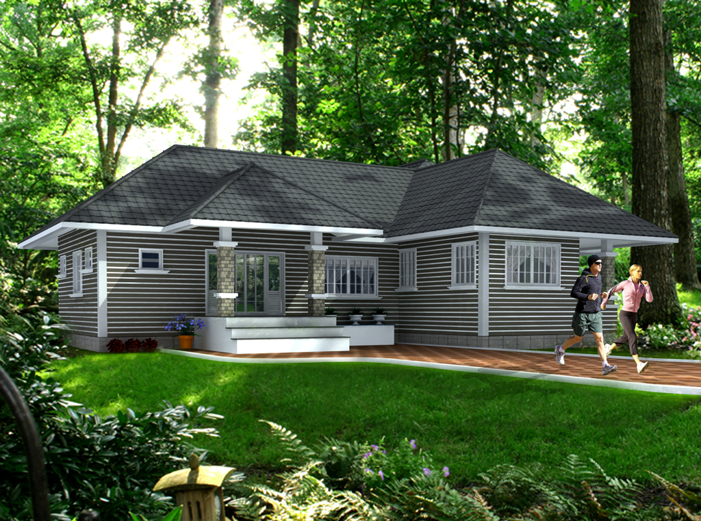 exterior house designs 3d max. 3D House Plan With The Implementation Of MAX Modern Designs