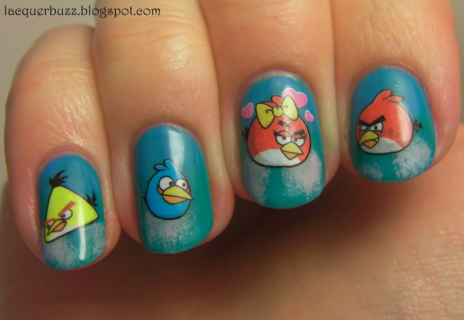 Easy Angry Birds Nails Using Water Decals Review And Tutorial