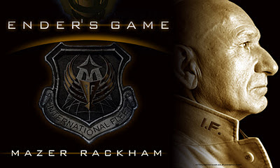 Sir Ben Kingsley as Mazer Rachaham in Ender's Game Movie coming out November 1, 201