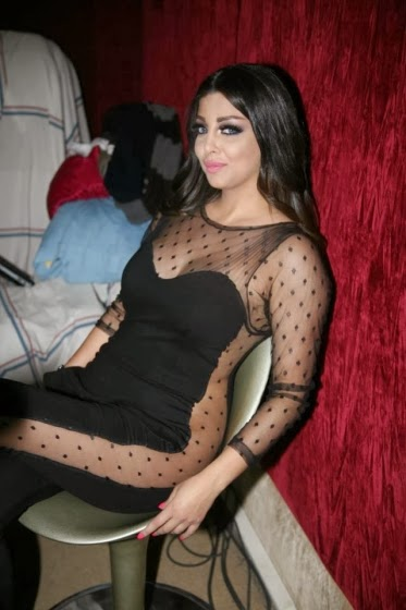 Rolla, Haifa Wehbe's sister wearing a transparent dress