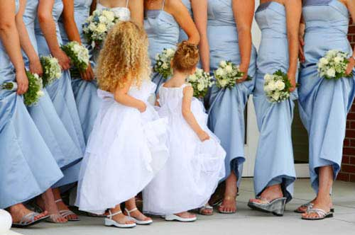 white junior bridesmaid dresses flower girls