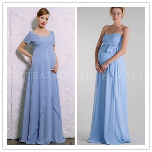 long blue maternity bridesmaid dresses