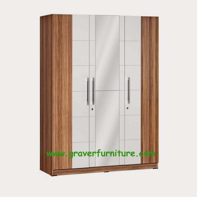 Lemari Pakaian 3 Pintu LP 2798 Graver Furniture