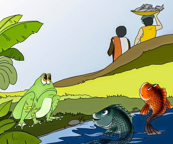 Kids stories story from the panchatantra for Clever fish names
