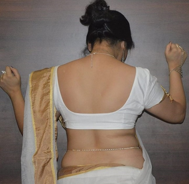 back xxx saree