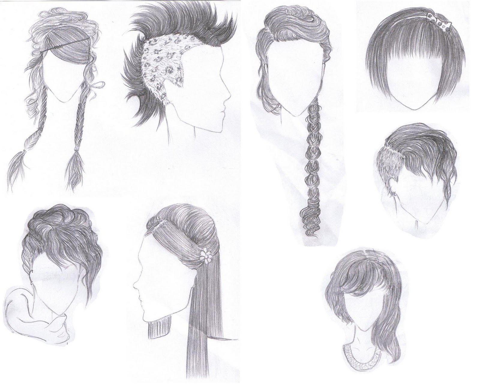 Hairstyles For Long Hair Drawing : Drawn Hairstyles