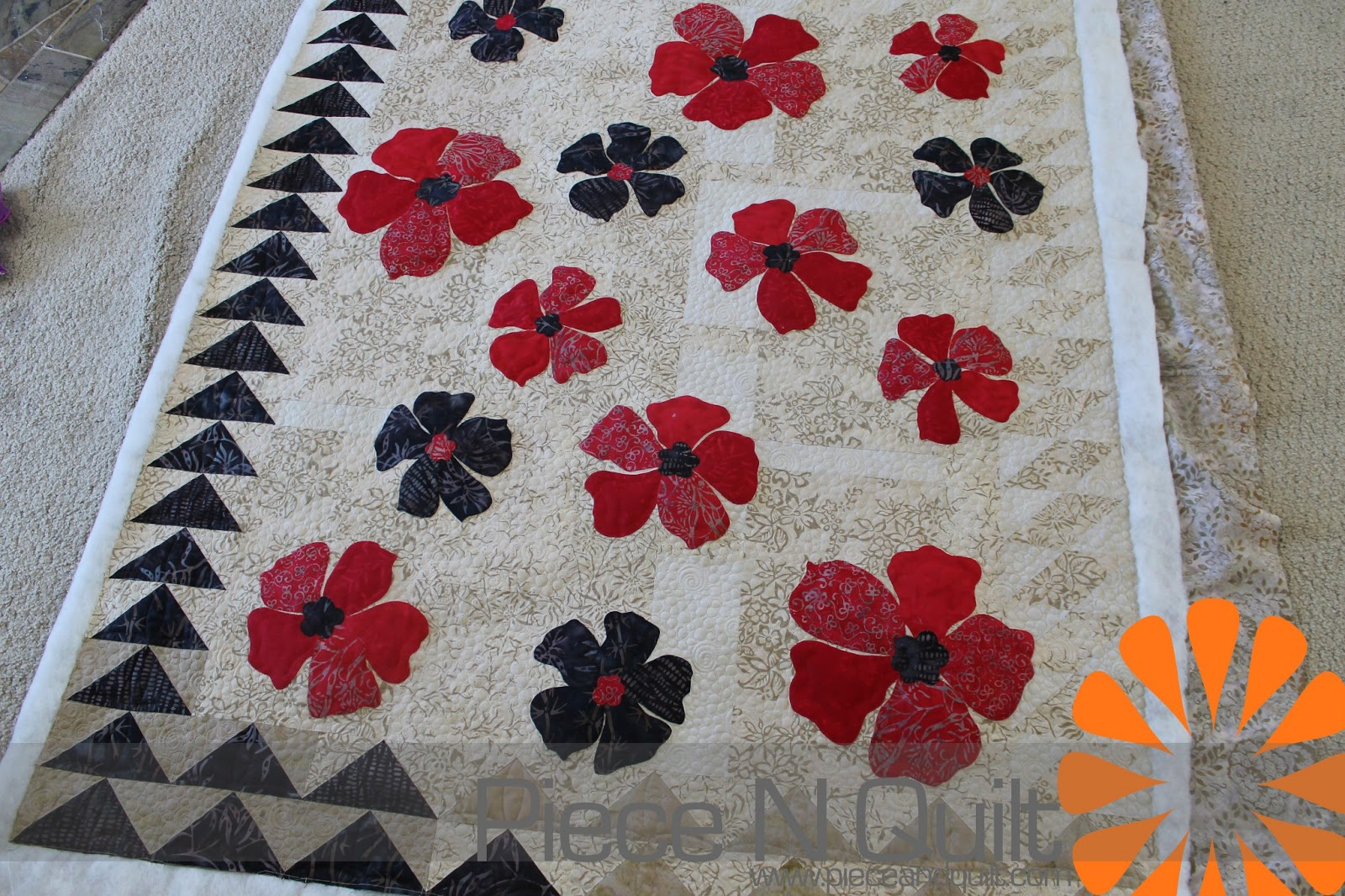 Flower Applique Quilt Patterns Magnificent Design