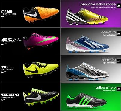 DLC 4.0 para PES 2013 adicionara chuteiras variadas da Nike e da Adidas