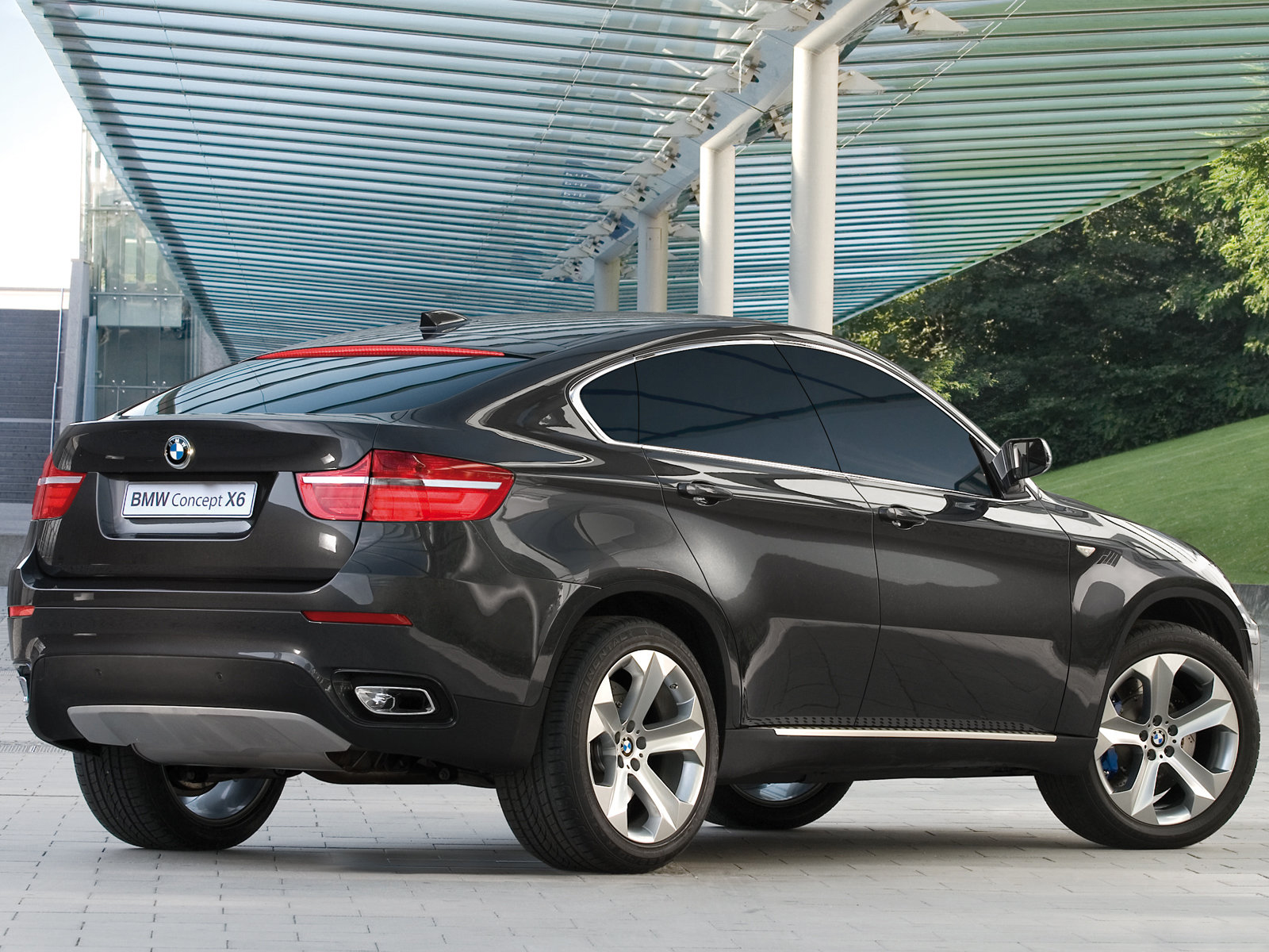 2007 bmw x6 concept rear view