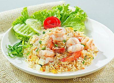 Recette rapide et facile pour le midi riz frit aux crevettes plat rapide et facile recette - Plat rapide et facile ...