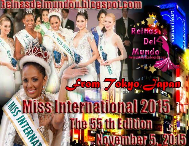 Miss Internacional 2015, 5 de Noviembre desde Tokyo, Japan