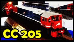 Miniatur Lokomotif CC 205 PT. Kereta Api Indonesia - Klik Gambar