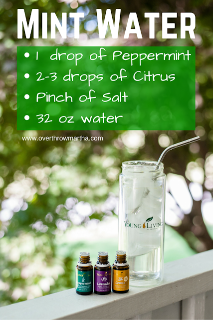 Mint Citrus Water is PERFECT for pre-workouts