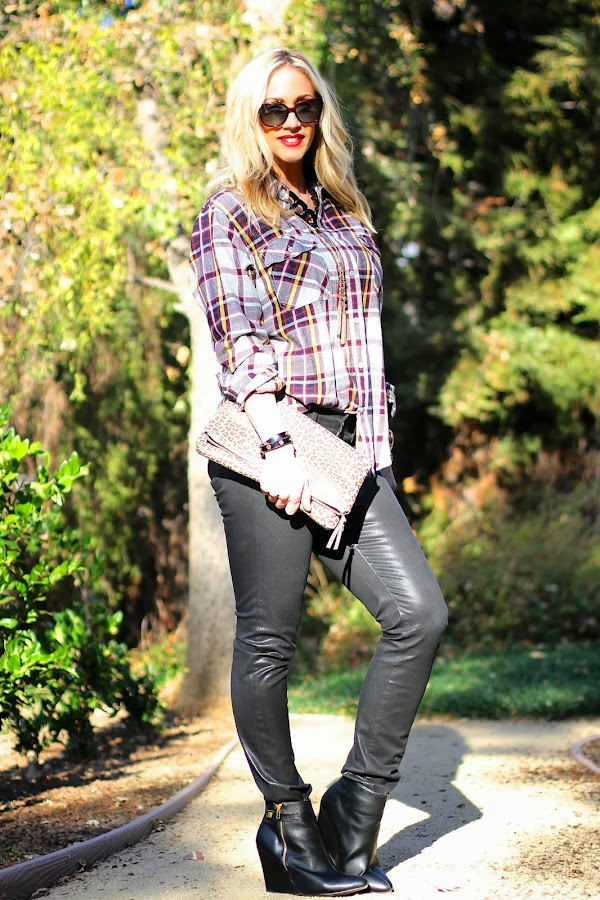 plaid top for women