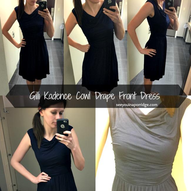 Gilli #5643-801 Kadence Cowl Drape Front Dress