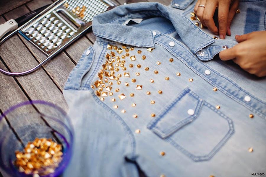 Перешить джинсовую рубашку своими руками 34