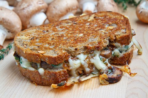 Mushroom Grilled Cheese Sandwich (aka The Mushroom Melt)